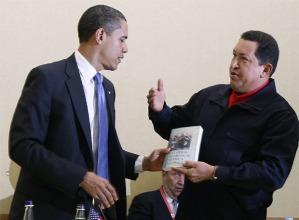 Chávez regala a Obama Las Venas Abiertas de América Latina, dicho así parece broma.