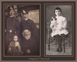 La niña Angelita, rescatada por la benemérita.